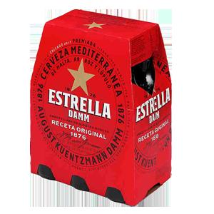 Cerveza Estrella Damm pack 6