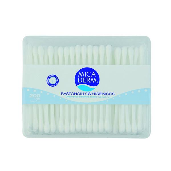 Mica Derm Bastoncillos higi/énicos 200 unidades Algod/ón