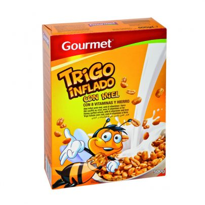 Cereales Trigo Inflado con Miel 500g Gourmet