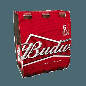 Cerveza Botella Budweiser Pack 6 25cl