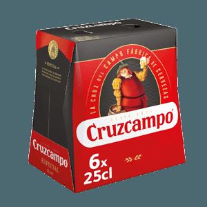 Cerveza Botella Cruzcampo Pack 6 25cl