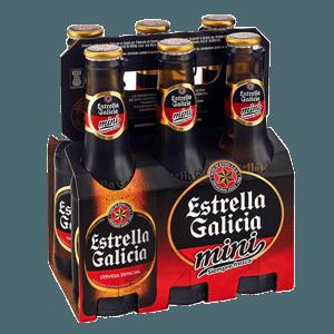 Cerveza Botella Estrella Galicia Mini Pack 6