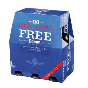 Cerveza Free Damm Pack 6