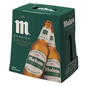 Cerveza Botella Mahou Clasica Pack 6 25cl