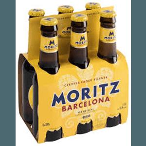 Cerveza Botella Moritz Pack 6 20cl