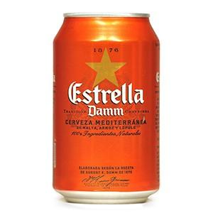 Cerveza Lata Estrella Damm 33cl