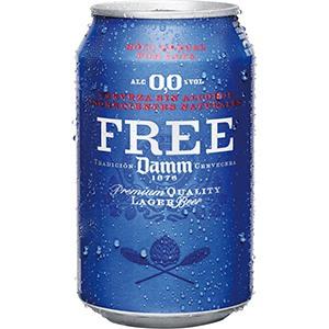 Cerveza Lata Free Damm