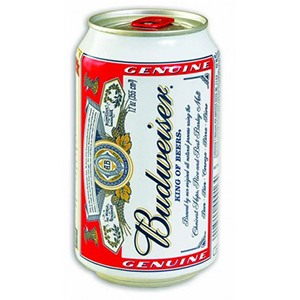 Cerveza lata Budweiser 33cl
