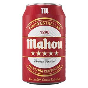 Cerveza lata Mahou 5 estrellas