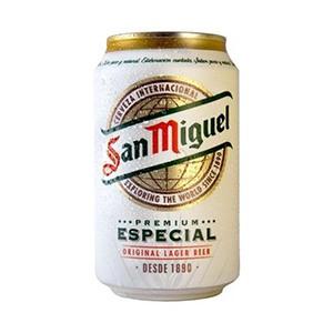 Cerveza lata San Miguel 33cl