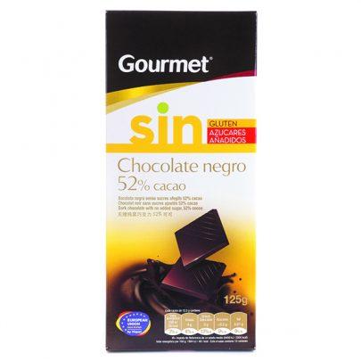 Chocolate negro 52% 125g Gourmet
