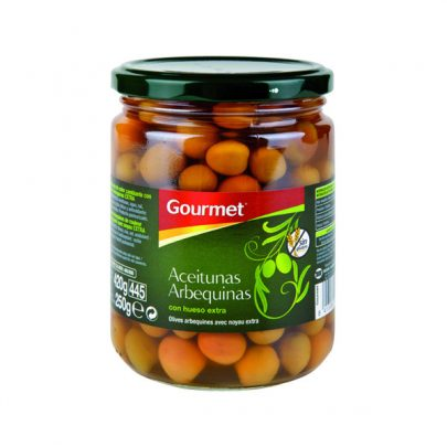 Conserva Aceitunas Arbequinas 250g Gourmet