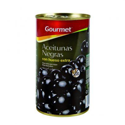 Conserva Aceitunas Negras con hueso Gourmet