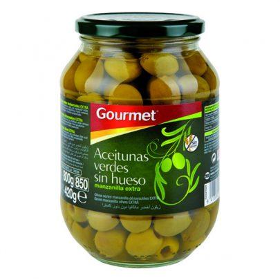 Conserva Aceitunas Verdes Manzanilla extra sin hueso Gourmet