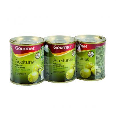 Conserva Aceitunas rellenas de anchoa 3u 50G Gourmet