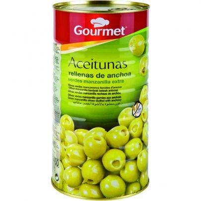 Conserva Aceitunas rellenas de anchoa 600G Gourmet