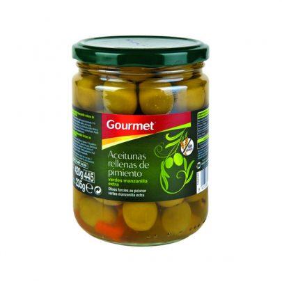 Conserva Aceitunas rellenas de Pimiento 235G Gourmet