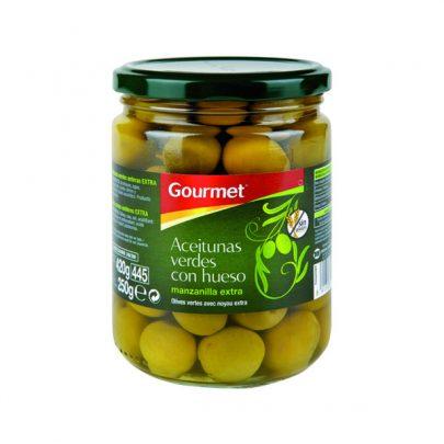 Conserva Aceitunas verdes con hueso 250g Gourmet