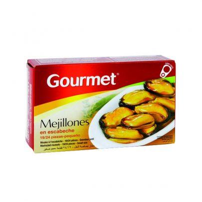 Conserva Mejillones escabeche 19-24u pequeño Gourmet