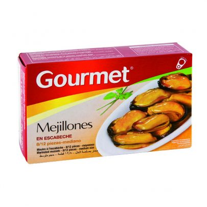 Conserva Mejillones escabeche 8-12u mediano Gourmet