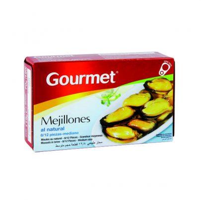Conserva Mejillones natural 8-12u mediano Gourmet