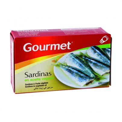 Conserva Sardinas aceite vegetal Gourmet