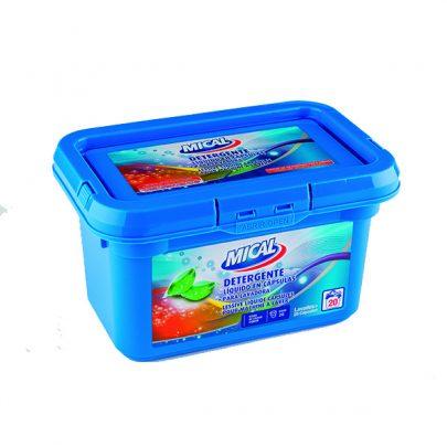 Detergente Líquido Lavadora Cápsulas 20u Mical