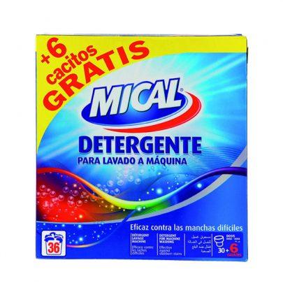 Detergente Máquina en polvo 36u Mical