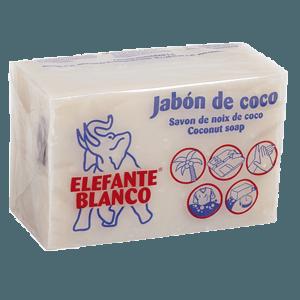 Elefante blanco jabón de coco