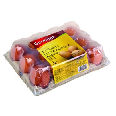 Huevos frescos Medianos 12u Gourmet