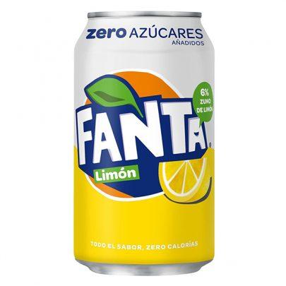 Fanta limón zero lata